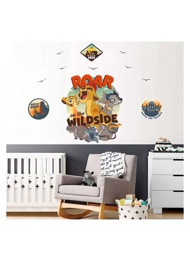 Disney Aslan Koruyucular 90X110 Cm Duvar Sticker Renkli